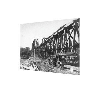 View of the Chico-Oroville Bridge Canvas Print