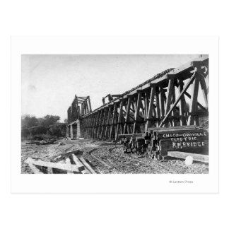 View of the Chico-Oroville Bridge Postcard