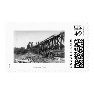 View of the Chico-Oroville Bridge Stamp