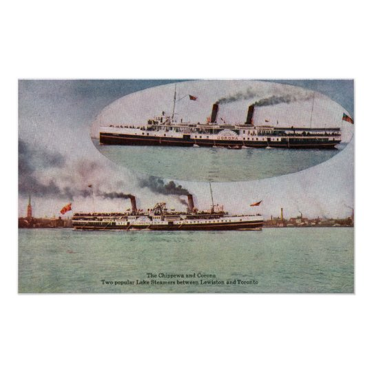 View of the Chippewa and Corona Steamers Poster