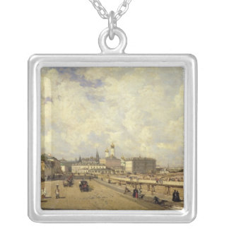 View of the Christ Saviour Cathedral Silver Plated Necklace
