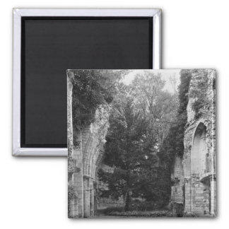 View of the church, c.1052-67 2 inch square magnet
