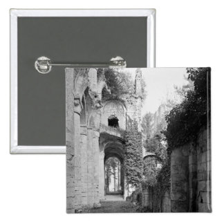 View of the church, c.1052-67 pinback button