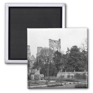View of the church exterior, c.1052-67 2 inch square magnet