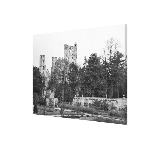 View of the church exterior, c.1052-67 gallery wrapped canvas