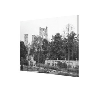 View of the church exterior, c.1052-67 canvas print