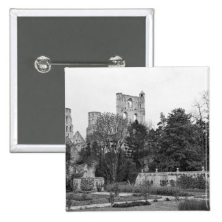 View of the church exterior, c.1052-67 pinback button