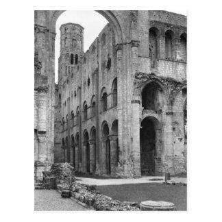 View of the church interior, c.1040-67 postcard