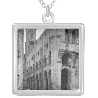 View of the church interior, c.1040-67 square pendant necklace