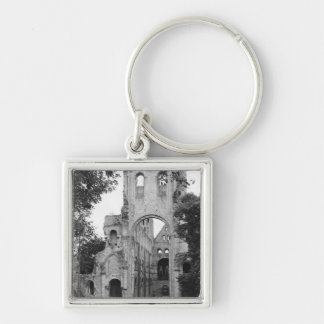 View of the church interior, c.1052-67 keychain