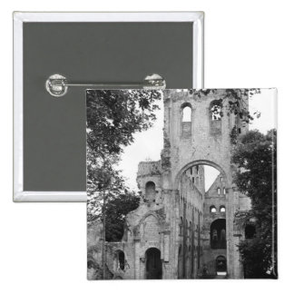 View of the church interior, c.1052-67 pinback button