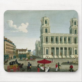 View of the Church of Saint-Sulpice Mouse Pad