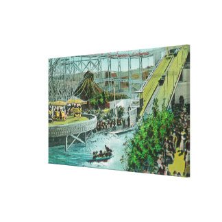 View of the Circle Swings and the Chutes Canvas Print