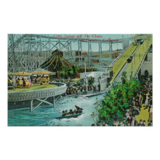 View of the Circle Swings and the Chutes Poster