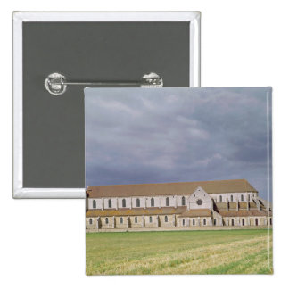 View of the Cistercian Abbey, built 1140-60 Pinback Button