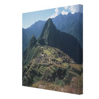 View of the citadel at Machu Picchu Canvas Print