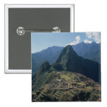 View of the citadel at Machu Picchu Pinback Button