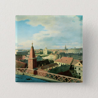 View of the city of Berlin with Altes Museum Button
