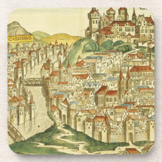 View of the city of Cracow (Kracow), from the Nure Beverage Coaster