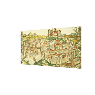 View of the city of Cracow (Kracow), from the Nure Canvas Print