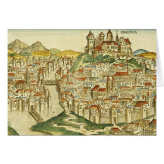 View of the city of Cracow (Kracow), from the Nure Card