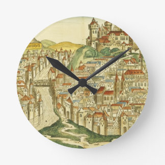 View of the city of Cracow (Kracow), from the Nure Round Wallclock