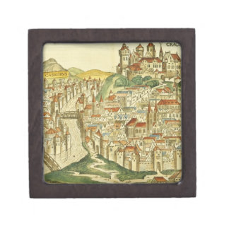 View of the city of Cracow (Kracow), from the Nure Gift Box