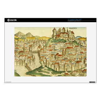 View of the city of Cracow (Kracow), from the Nure Laptop Skin