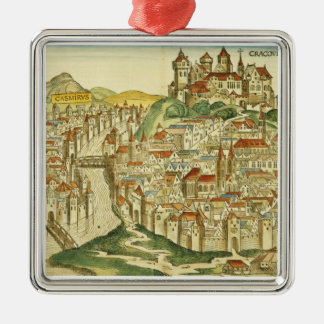 View of the city of Cracow (Kracow), from the Nure Metal Ornament
