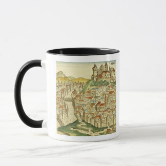 View of the city of Cracow (Kracow), from the Nure Mug