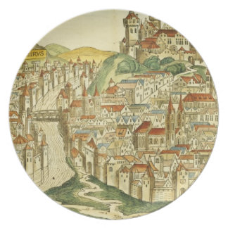 View of the city of Cracow (Kracow), from the Nure Dinner Plate