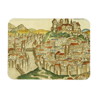 View of the city of Cracow (Kracow), from the Nure Rectangular Photo Magnet