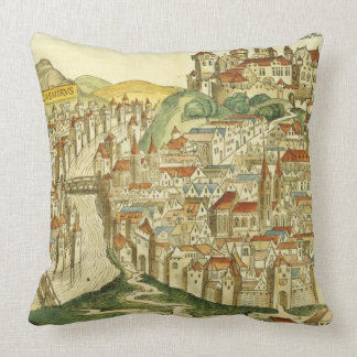 View of the city of Cracow (Kracow), from the Nure Throw Pillow