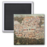 View of the city of Damascus 2 Inch Square Magnet