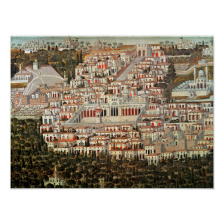 View of the city of Damascus Poster
