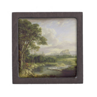 View of the City of Edinburgh, c.1822 (oil on canv Jewelry Box