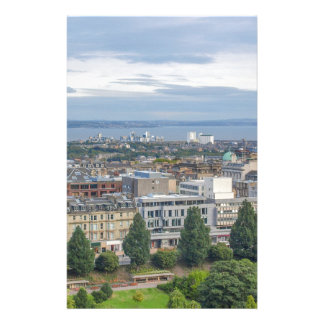 View of the city of Edinburgh in Scotland Stationery Design