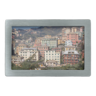 View of the city of Genoa Belt Buckle