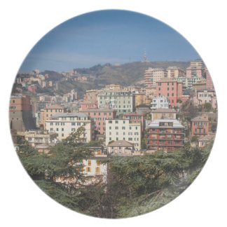 View of the city of Genoa Dinner Plate