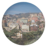 View of the city of Genoa Plates