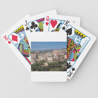 View of the city of Genoa Deck Of Cards