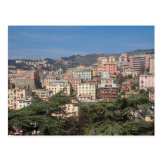 View of the city of Genoa Postcard