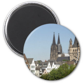 View of the city of Koeln (Cologne) in Germany Magnet