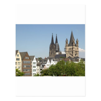 View of the city of Koeln (Cologne) in Germany Postcard