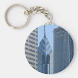 View of the City of Philadelphia Basic Round Button Keychain