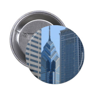 View of the City of Philadelphia 2 Inch Round Button