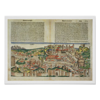 View of the City of Rome, from the Nuremberg Chron Poster