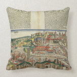 View of the City of Rome, from the Nuremberg Chron Throw Pillow