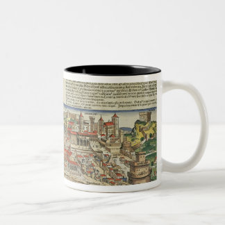View of the City of Rome, from the Nuremberg Chron Two-Tone Coffee Mug