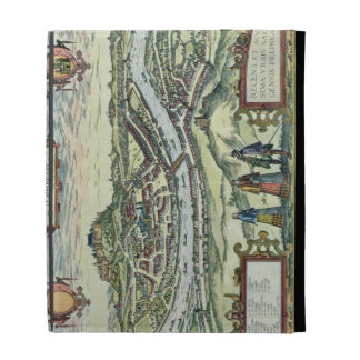 View of the city of Salzburg on the banks of the r iPad Folio Case